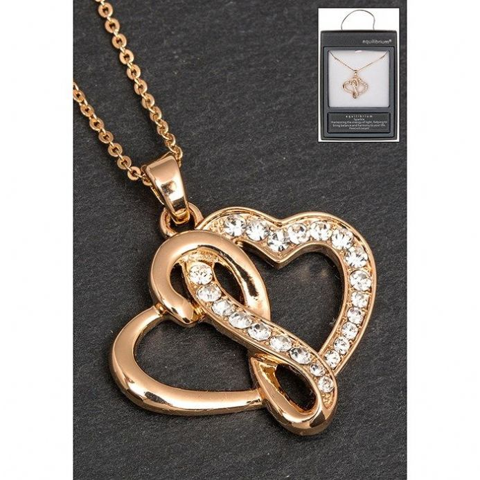 Gold Plated Entwined Hearts Necklace